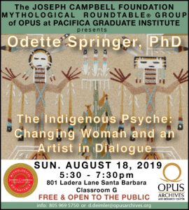 """Odette Springer, PhD presents """"The Indigenous Psyche: Changing Woman and an Artist in Dialogue"""" @ OPUS Archives and Research Center 