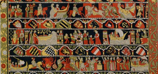 The Romance of Tristan and Iseult - Artist's representation of a 14th Century Tapestry