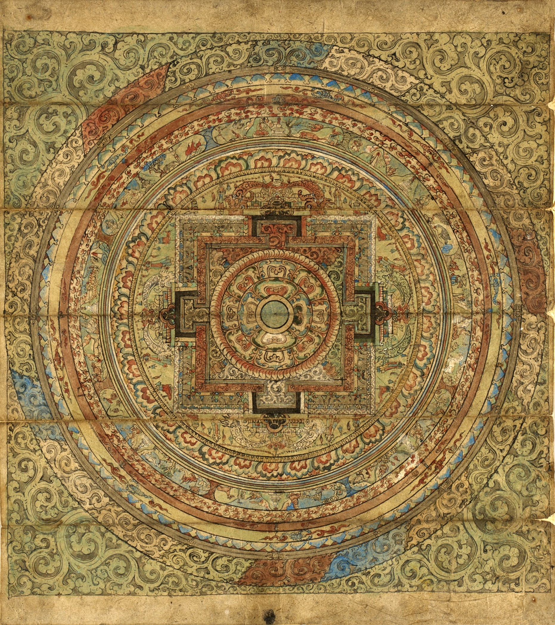 Tibetan mandala (seventeenth–eighteenth century a.d. Public domain; used with permission of Los Angeles County Museum of the Arts)