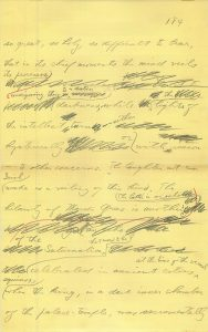 Handwritten fragment from a piece of Joseph Campbell's fiction (Copyright © 2018 Joseph Campbell Foundation)